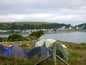 Camping on Looe Island