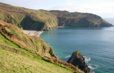 Lantic Bay In Winter, South East Cornwall