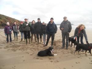 Looe Marine Conservation Volunteers on Winter walks