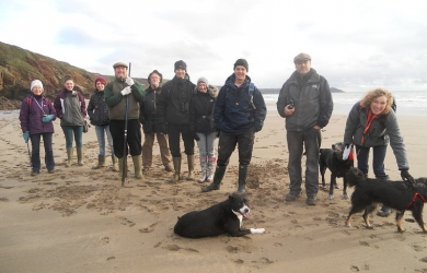 Looe Marine Conservation Volunteers on Winter walks