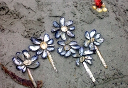 Seashell flowers