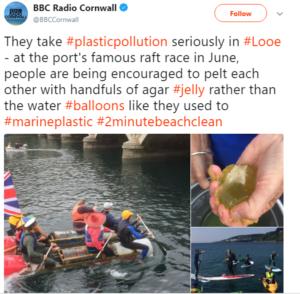 BBC Radio Cornwall interaview Thorw Jelly Not Balloons