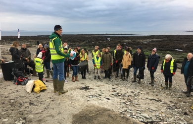 Downderry beach clean