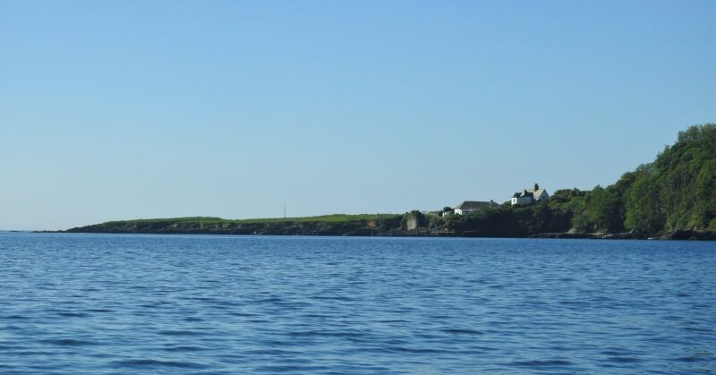 Little Island is the flat-topped area at the left-hand end of the photo.