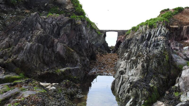 Little Island bridge at low tide